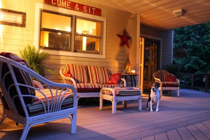 side porch evening