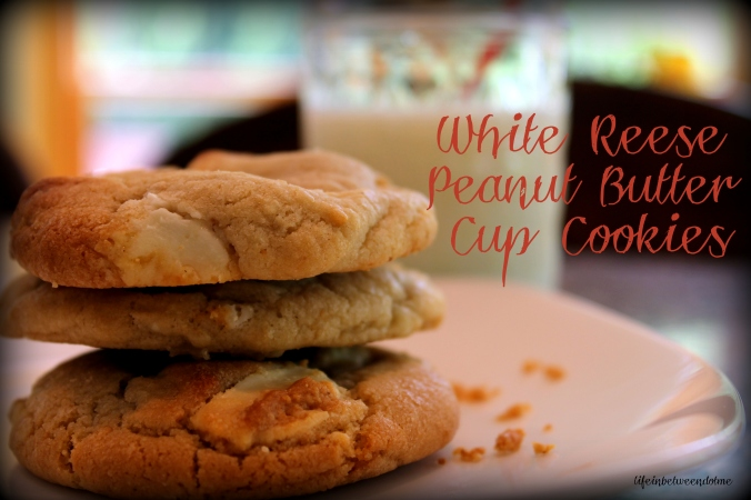 White Reese Peanut Butter Cup Cookies