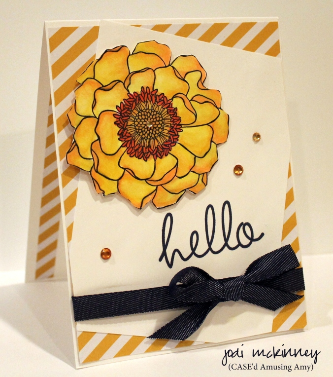 Blended Bloom Hi There in Yello and Denim