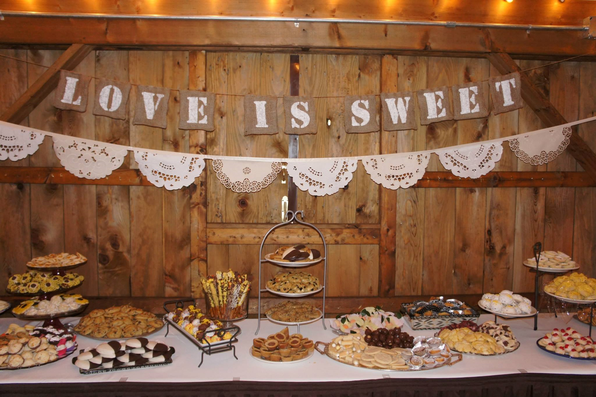 the cookie table at jake and colleens wedding on july 13 2013 gable farms lake latonka pa