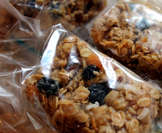 granola bars wrapped