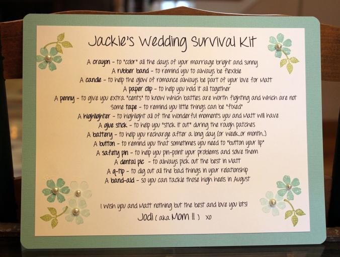 Jackie Wedding Survival Kit