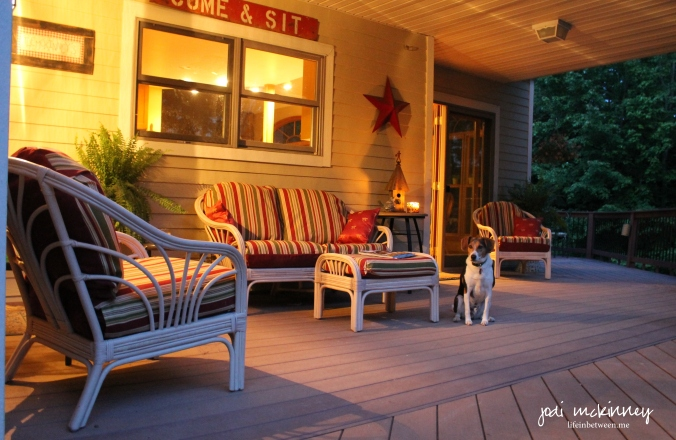 side porch evening