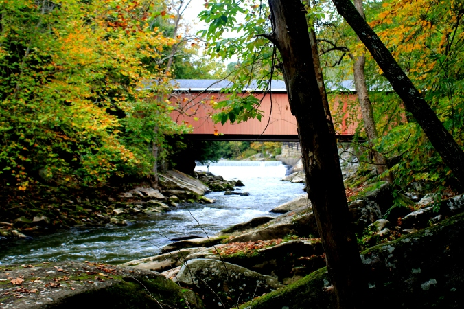 McConnell's Mills Covered Bridge Slippery Rock Creek PA State Park Jodi McKinney