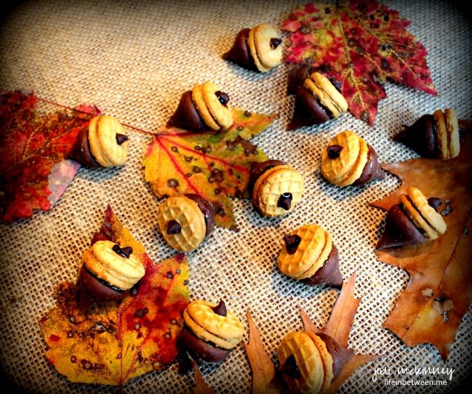 chocolate peanut butter acorns