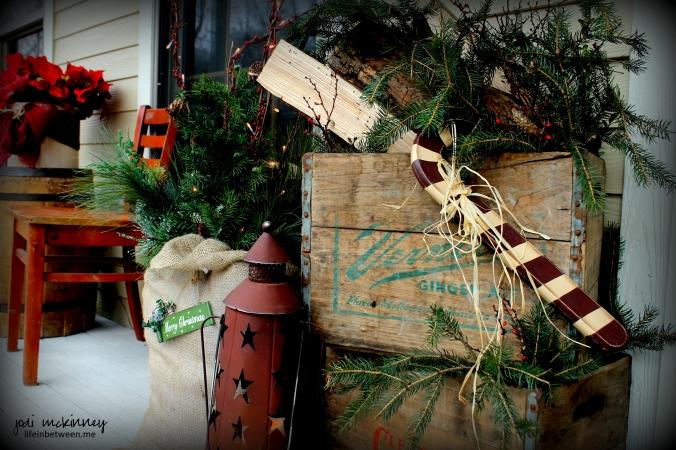 christmas deco front porch