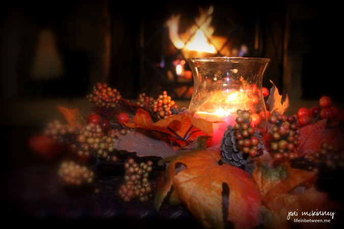 fall candle fire