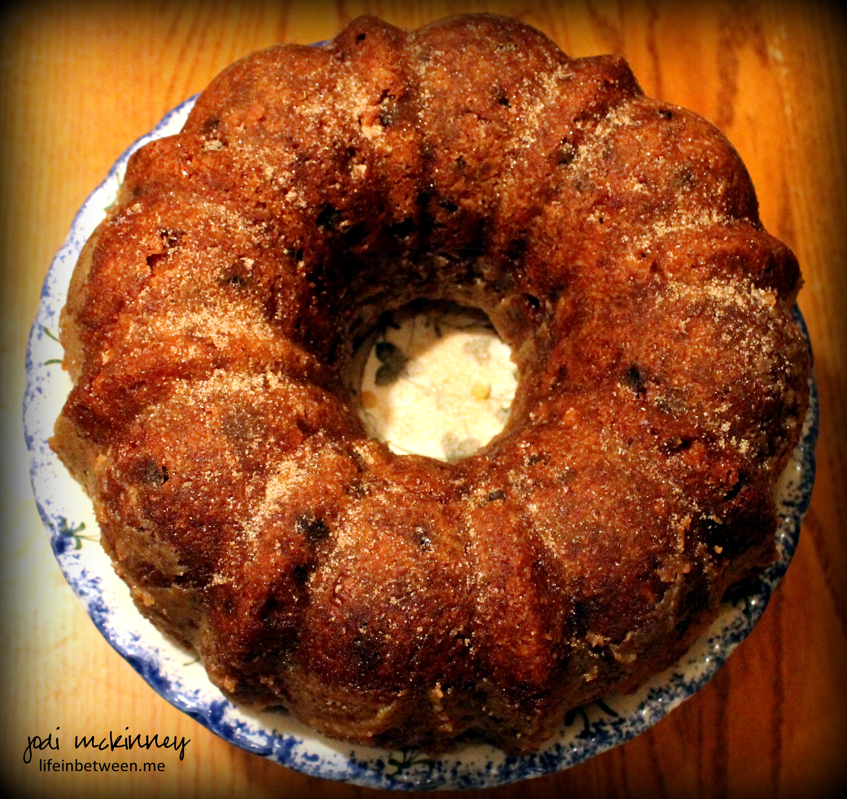 Raw Apple Cake Made With Coffee