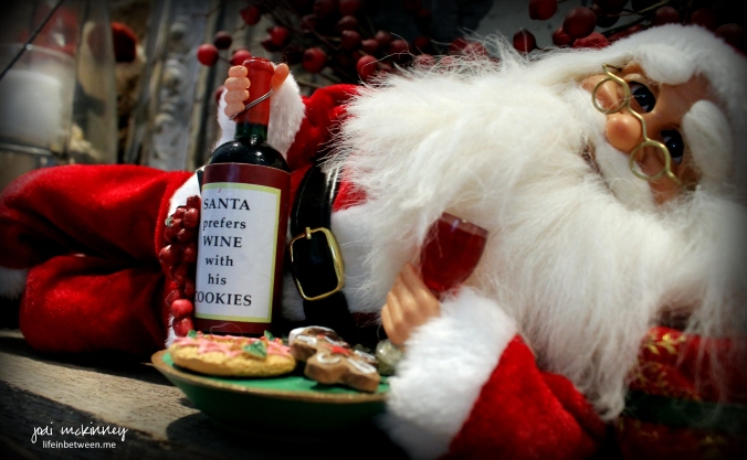 santa prefers wine