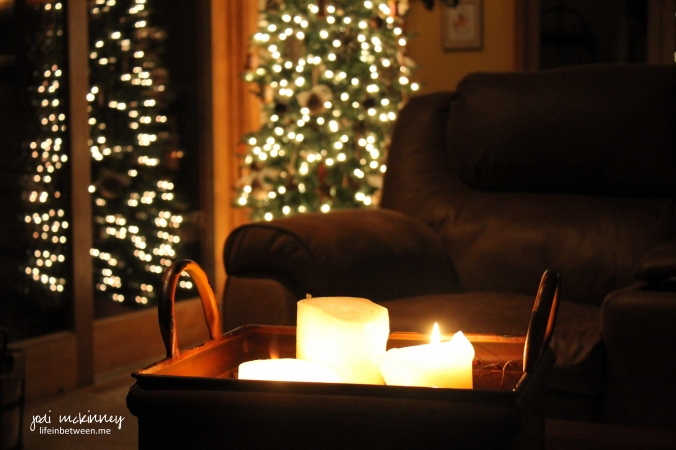 Weekly Photo Challenge:  Warmth - Candle Glow & Christmas Lights