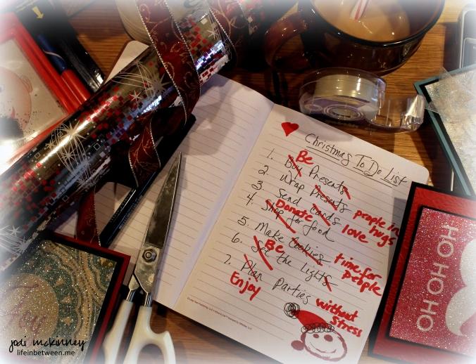 Christmas to do list 2014