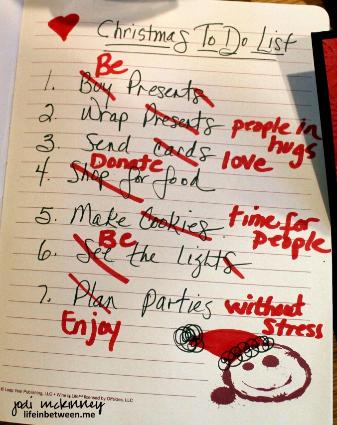 Christmas to do list revised 2014