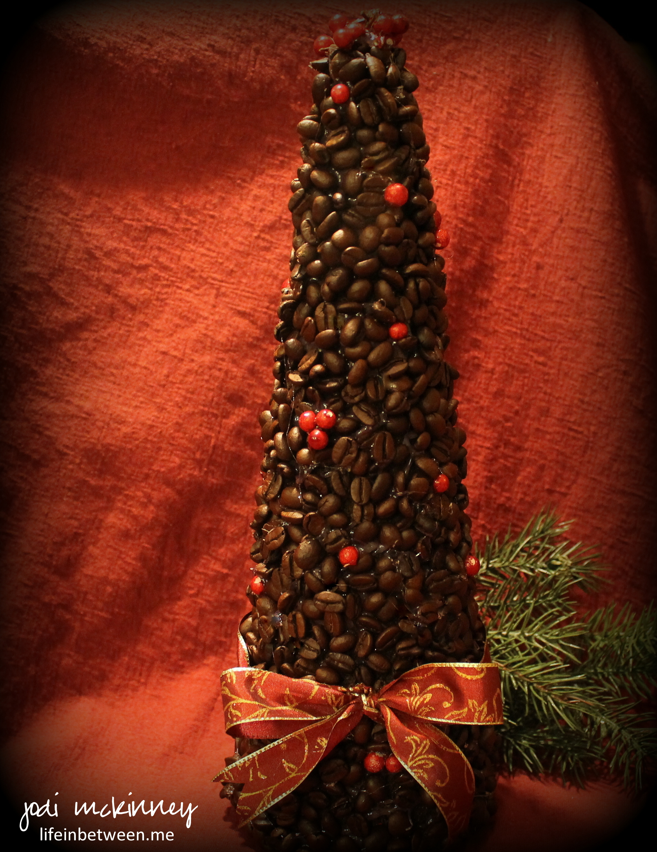 Coffee Christmas Tree.Creative Inspiration In Food Watercolor Photography