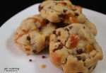apricot chocolate chip cookies plate