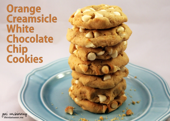 Orange Creamsicle White Chocolate Chip Cookies 1
