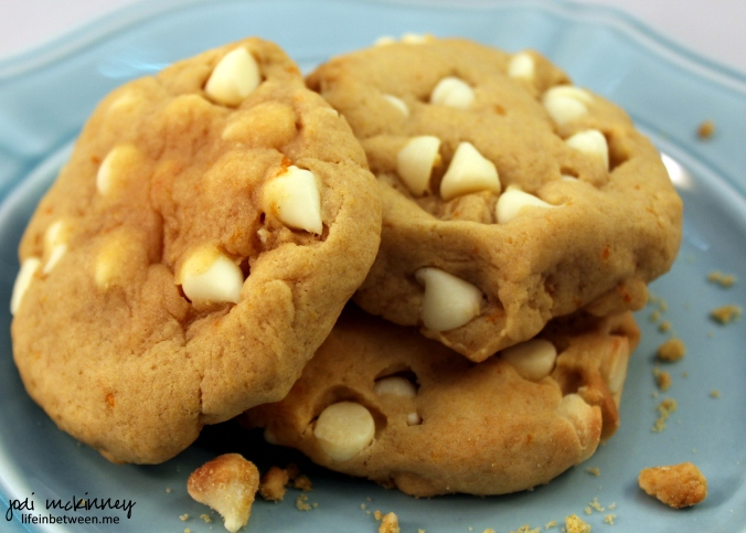 Orange Creamsicle White Chocolate Chip Cookies 2