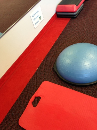 snap gym matt and balance ball