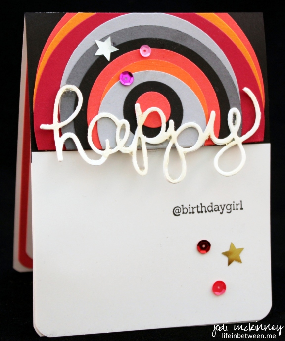 hello you thinlits circle framelits so social happy birthday card