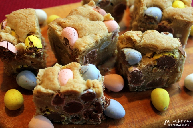 cadbury mini egg blondies 2