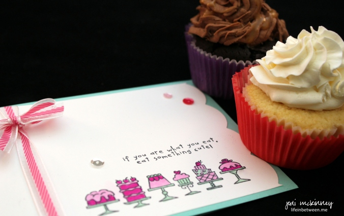 cupcakes and birthday bakery card