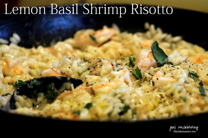 lemon basil shrimp risotto 1