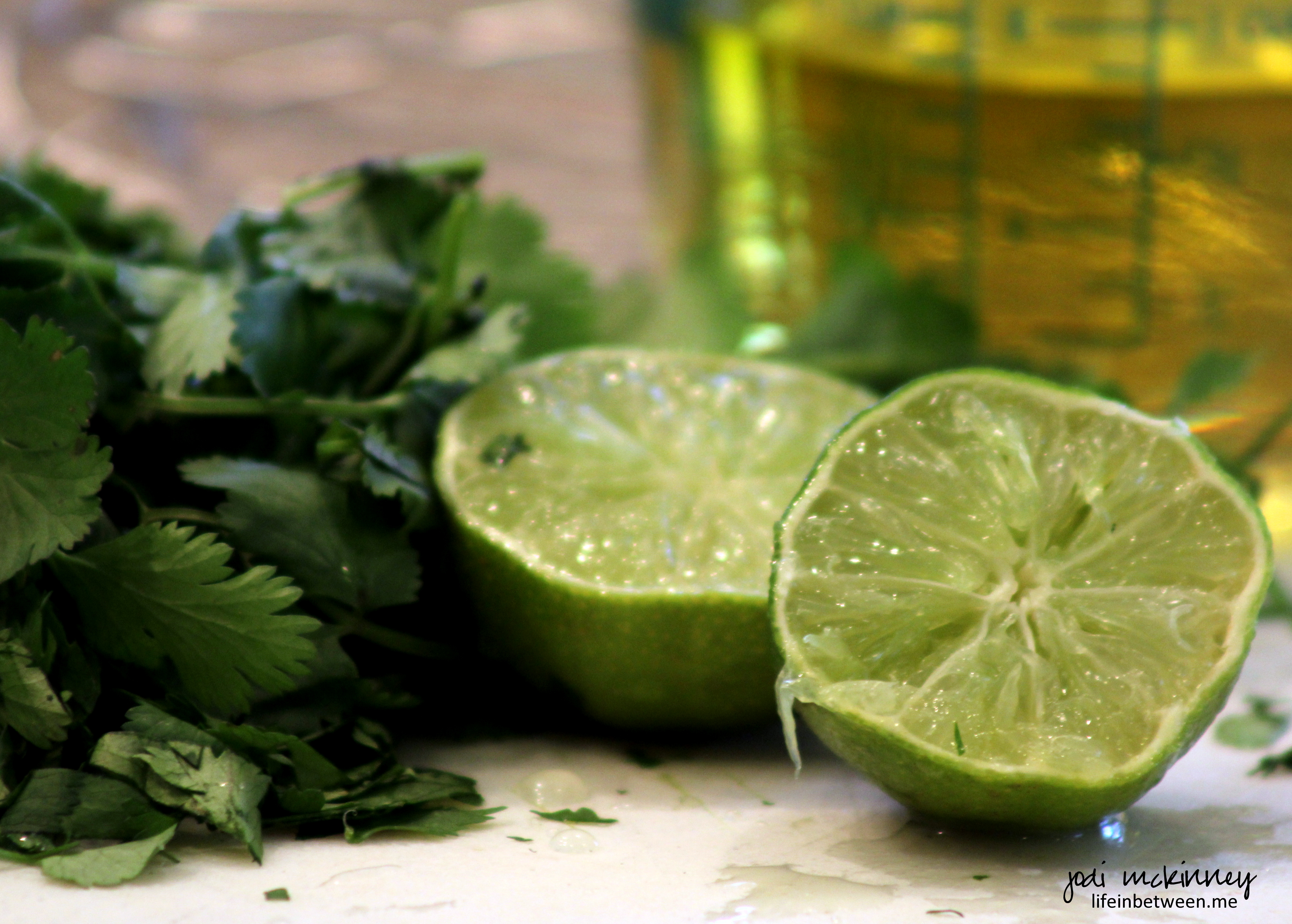 started with a fresh lime and cilantro marinade…