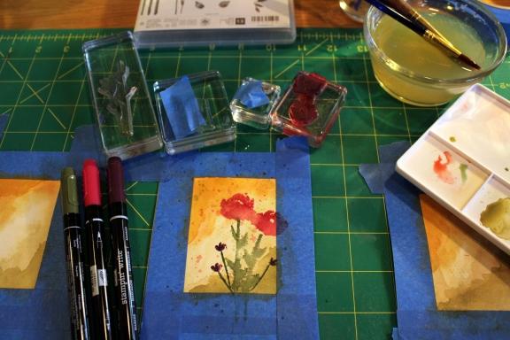 mini watercolor painted petals 2
