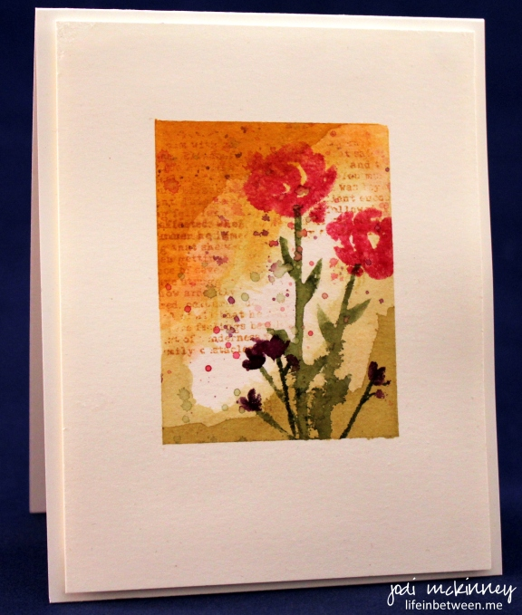 mini watercolor painted petals