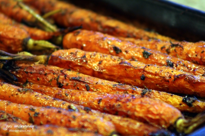 roasted carrots after