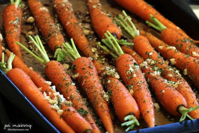 roasted carrots before