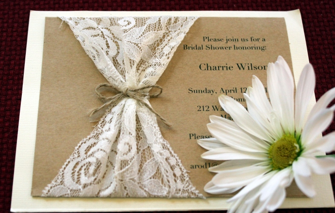 charrie shower invitation