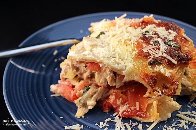 Chicken Caprese Lasagna 2