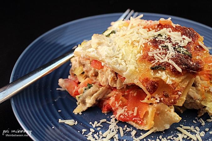 Chicken Caprese Lasagna