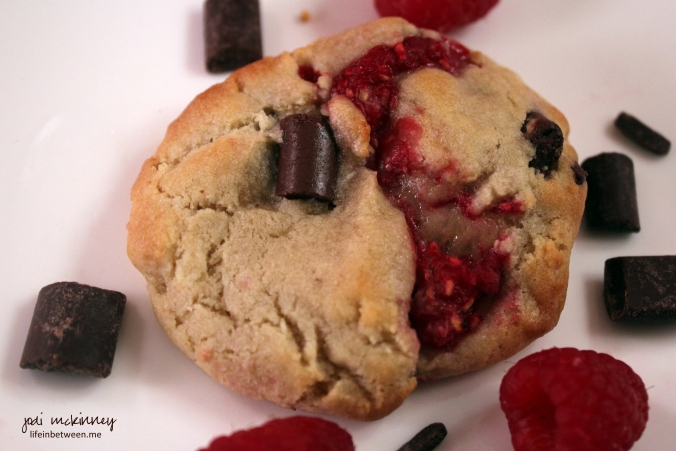 Fresh Raspberry Chocolate Chip Cookie