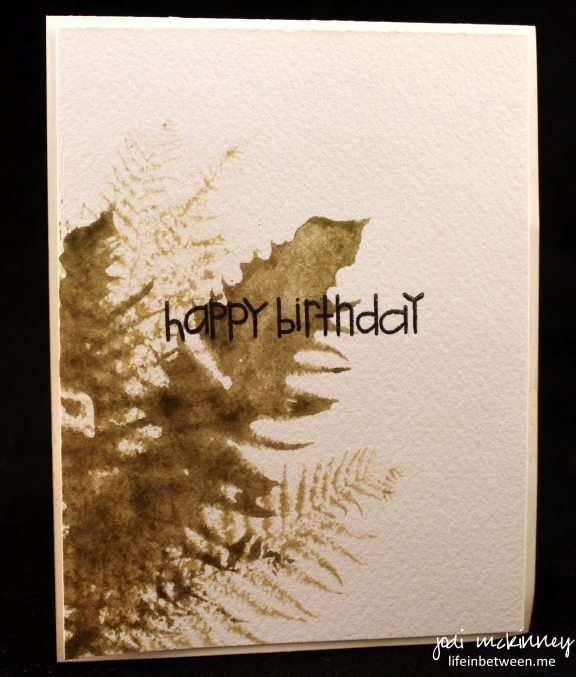 masculine card happy birthday paper smooches sentiment hero arts fern watercolor