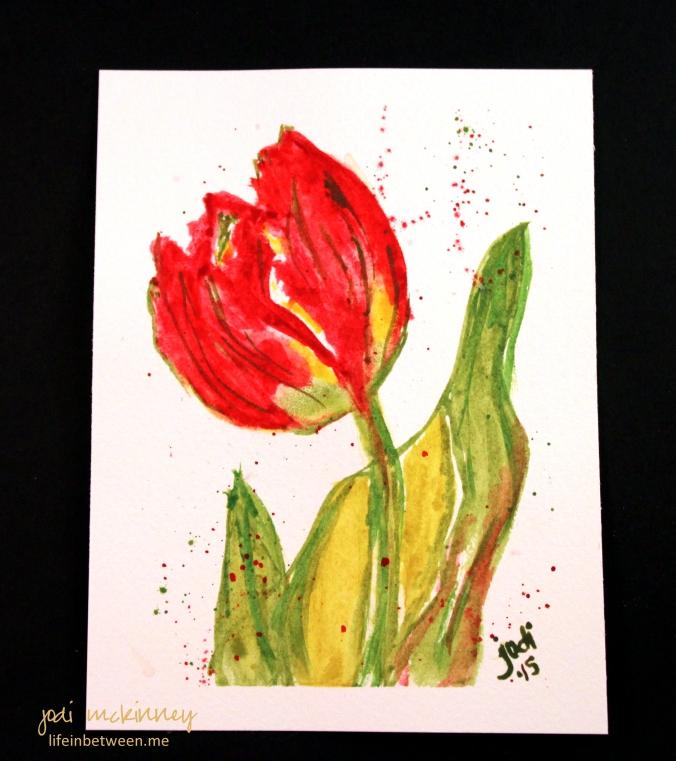 watercolor 2 tulip 040415