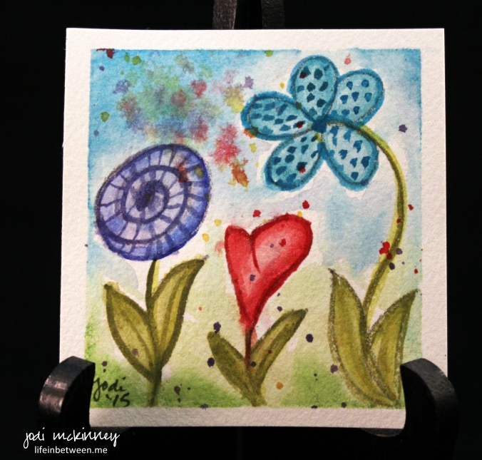 watercolor 4 flower whimsy 0415