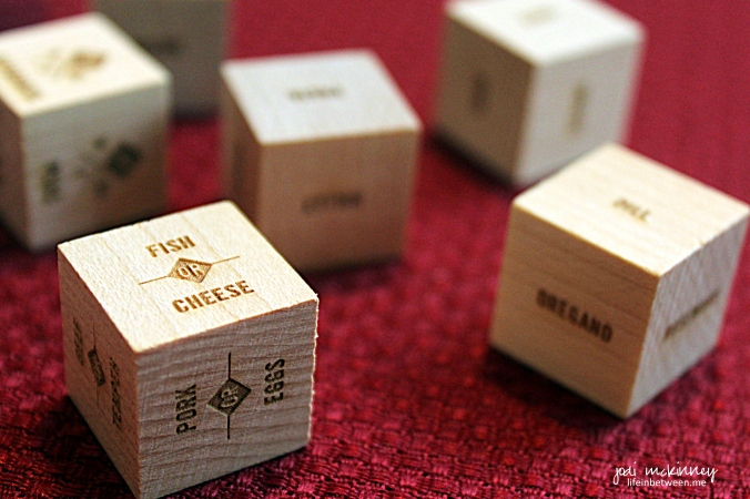 foodie dice play with your food