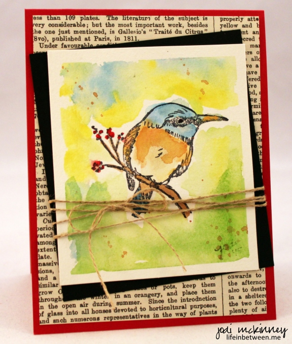 love life bird watercolor card