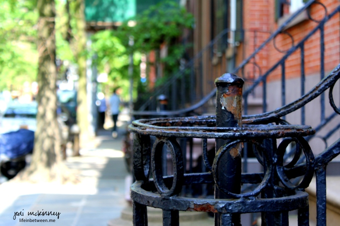 rusted railing west village new york city