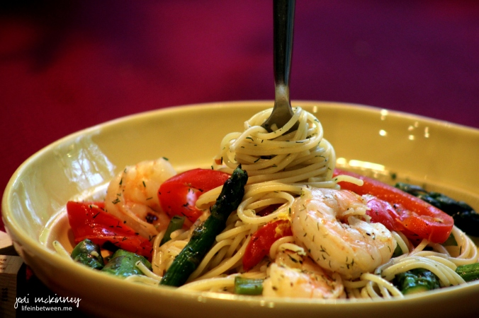 shrimp asparagus pasta