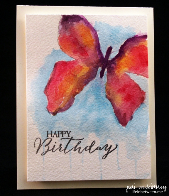 watercolor butterfly Jill bday