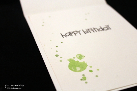 whimsical green and purple polka dot birdie watercolor card birdie doo doo inside birthday