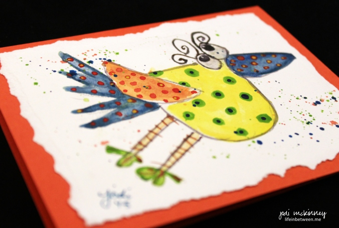 whimsical watercolor birdie card 2