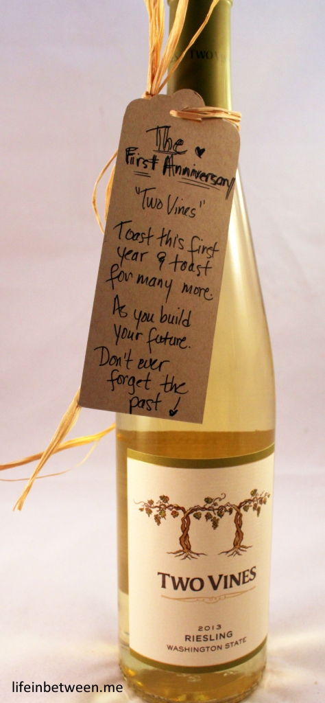 wine bridal shower gift first anniversary bottle