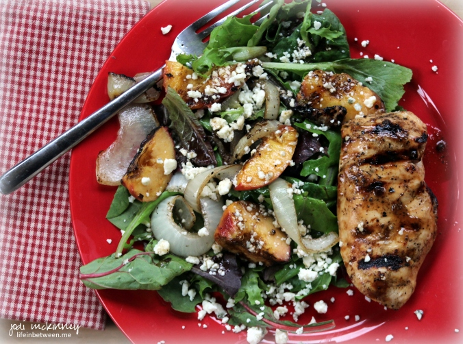 balsamic grilled peaches and chicken 3