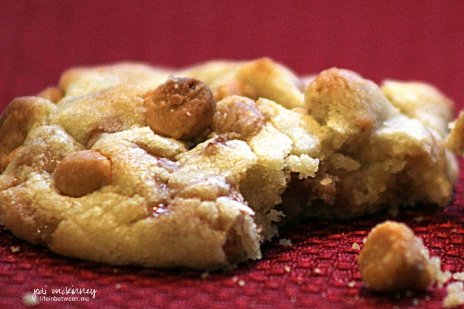 butterscotch toffee cookie
