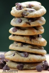 Milk Chocolate Caramel Filled Chip Cookies Stacked 2