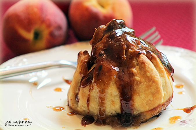 peach dumpling