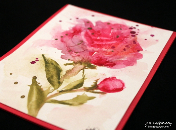 pink peony watercolor card 2